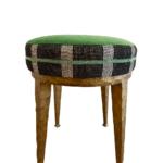 black, green, and white stool trim