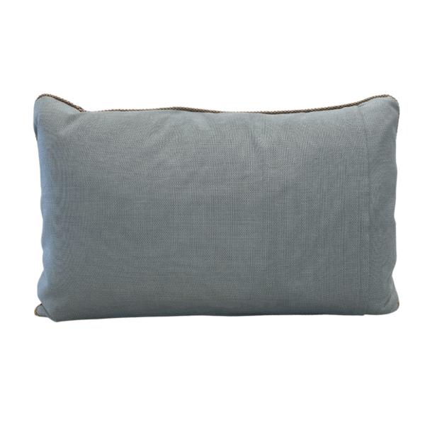 Fortuny Gold and Aqua Pillow Back