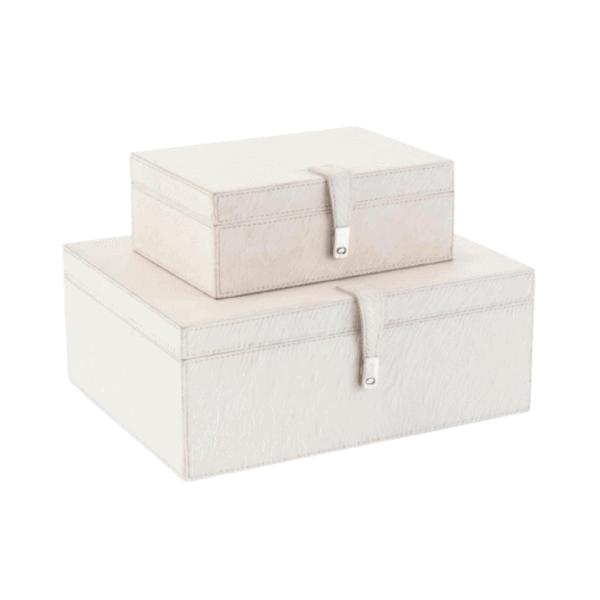 cream leather box set overview