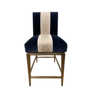 navy blue velvet counter stool