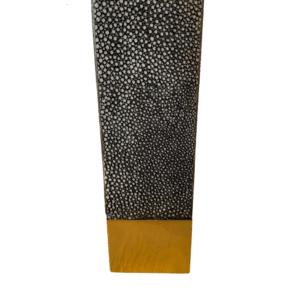 grey shagreen console leg detailed photo