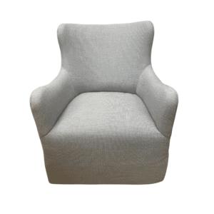 grey swivel armchair overview