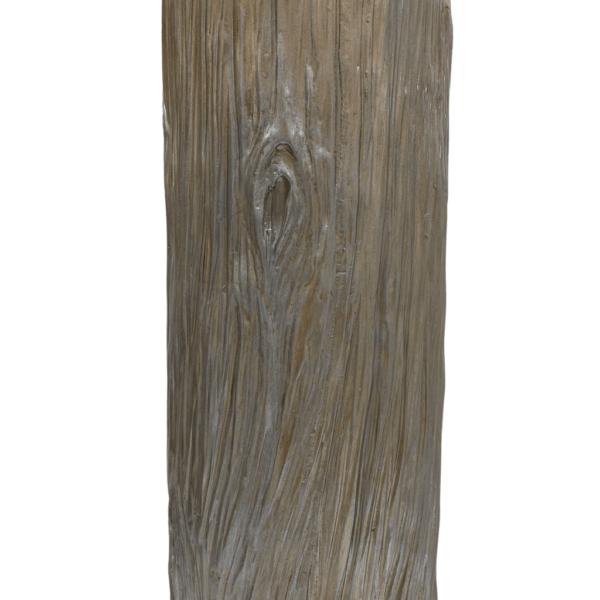 woodgrain table lamp detailed photo